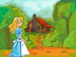 Goldilocks and the three bears house pictures