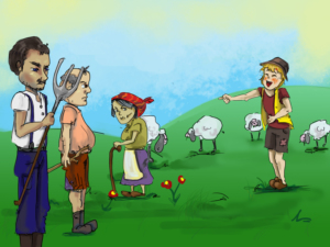 The Boy Who Cried Wolf - Children Story by Tales with GiGi